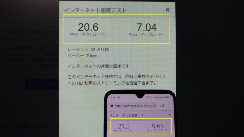 fujisimスピードテスト
