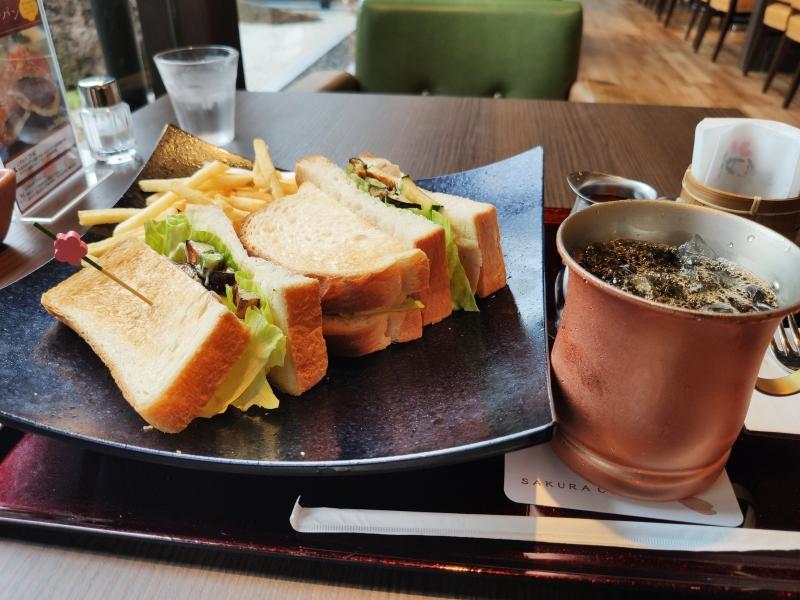 桜珈琲河内長野店サンドイッチ