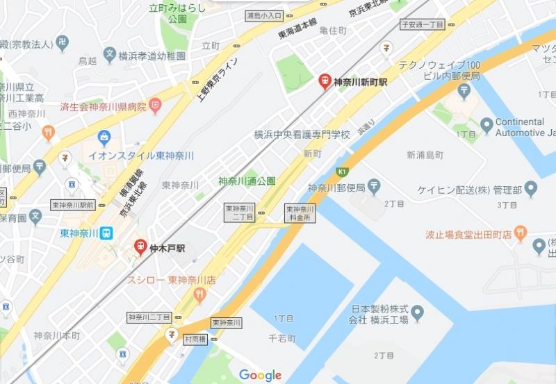 京急線トラック衝突脱線場所