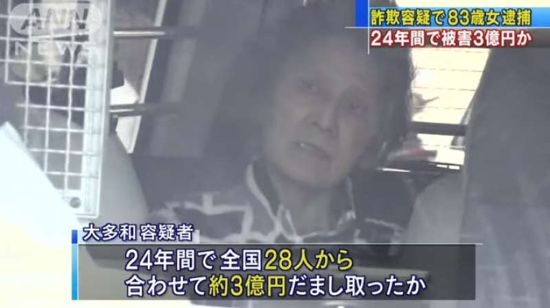 大多和とし子3億円詐欺