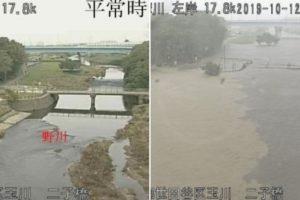 多摩川氾濫間近