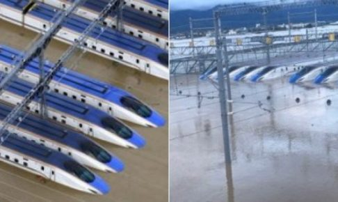北陸新幹線水没