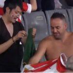 日本南アフリカファン同士もジャージ交換